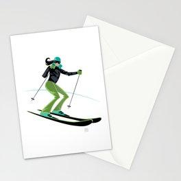 Ski Girl Turns Stationery Cards