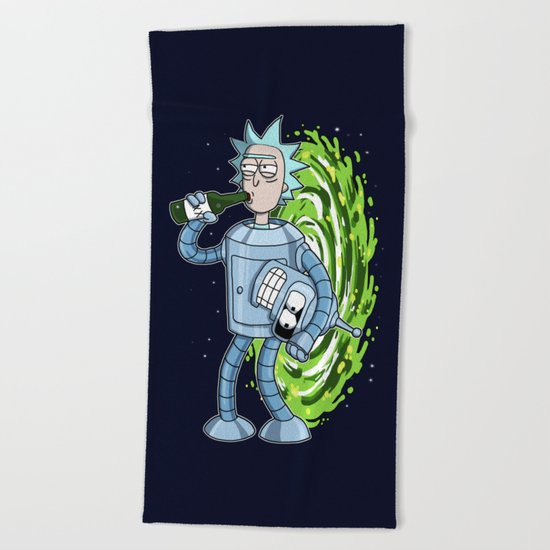 Rick and Morty. Bender's Secret II Beach Towel