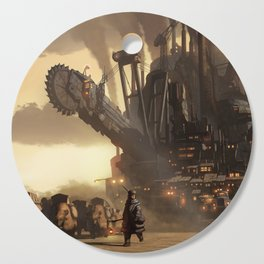 Steampunk Abstract Painting Cutting Board