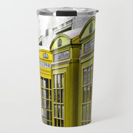 Red Booths Turned Yellow Travel Mug