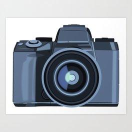 Blue Camera Graphic Art Print