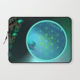 Flower of Life and six pointed Star Laptop Sleeve