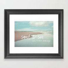 sand and sea Framed Art Print