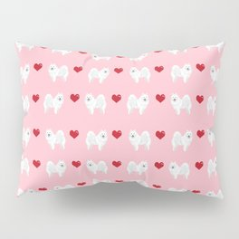Japanese Spitz love hearts day pure breed dog pattern pet gifts for dog lovers Pillow Sham