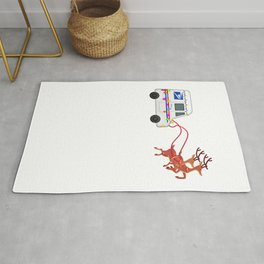 Mailman Postal Worker Mail Truck Funny Christmas Gift Rug