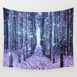 Magical Forest Lavender Ice Blue Periwinkle Wall Tapestry