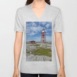 Old lighthouse in Sweden Unisex V-Neck