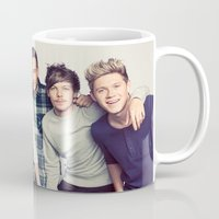 one direction Mugs featuring One direction by kikabarros