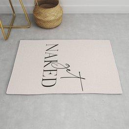 Get Naked Typography Art Rug
