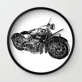 Vintage Indian Motorcycle Wall Clock