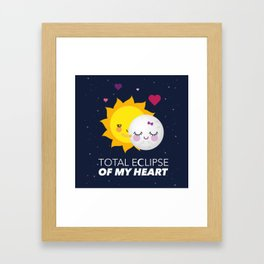 Total eclipse of my heart Framed Art Print