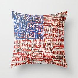 Flag Circled Throw Pillow