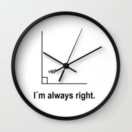 Funny Mathematics Sarcasm Saying for Maths Teachers T-shirt Wall Clock