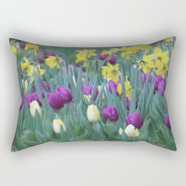 Spring Tulip Garden Rectangular Pillow