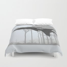 Crow Goes Hunting Duvet Cover