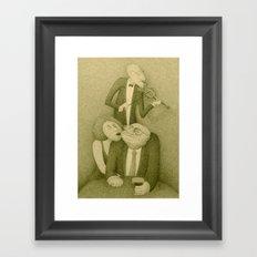 Slow Hand Serenade (Sepia version)  Framed Art Print