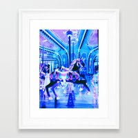 carousel Framed Art Prints featuring Carousel by Whimsy Romance & Fun