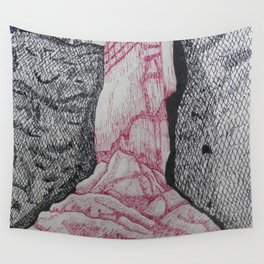 Ice Waterfall Wall Tapestry