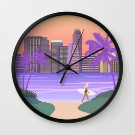 Los Angeles City Art Wall Clock