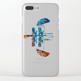 Burning Textile Drops Clear iPhone Case