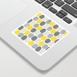 Wonky Ovals in Yellow Sticker