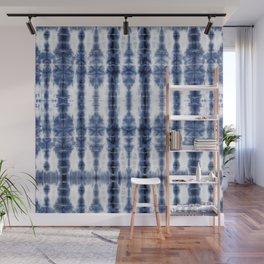 Tiki Shibori Blue Wall Mural