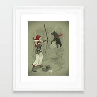 robin hood Framed Art Prints featuring Little Red Robin Hood by Santo76