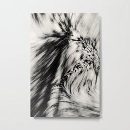 Swerve (B&W) Metal Print