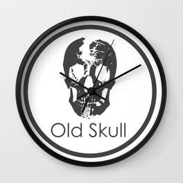Old skull Wall Clock