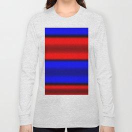 Red & Blue Horizontal Stripes Long Sleeve T-shirt