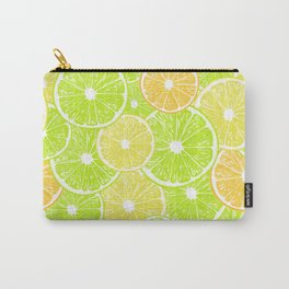 Lemon, orange and lime slices pattern design Carry-All Pouch