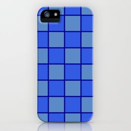 Blue Chex 1 iPhone Case