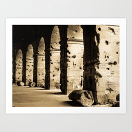 Holes on the Colosseo Art Print