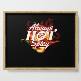 Always Hot and Spicy Pepperoni Hot Serving Tray