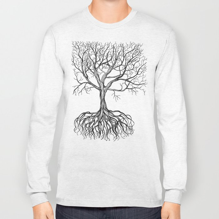Bare tree with root Long Sleeve T-shirt