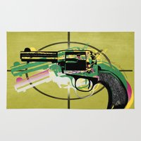 gun Area & Throw Rugs featuring gun by mark ashkenazi