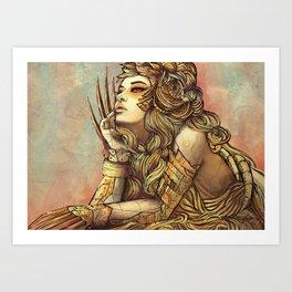 Zodiac Sign: Leo Art Print