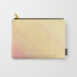 Pastel Ombre Millennial Pink Yellow Diagonal Stripes | Peach, apricot gradient pattern Carry-All Pouch
