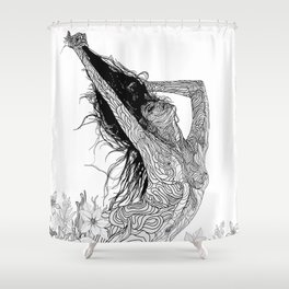 mystic transcendence Shower Curtain