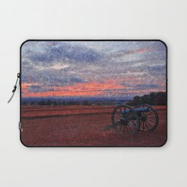 Gettysburg Cannon Sunset - Ruby Rapture Laptop Sleeve
