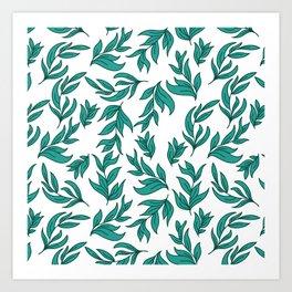 Wild Leaves / Clutter Pattern Art Print