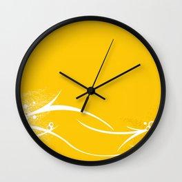 Yellow Wallpaper Wall Clock