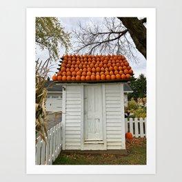 The Pumpkin House Art Print