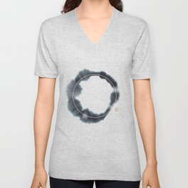 Circle n° 1 (Monochrome Version) Unisex V-Neck
