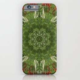Cardinal flower and Culver's root kaleidoscope iPhone Case