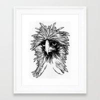 hawk Framed Art Prints featuring Hawk  by Art is Vast
