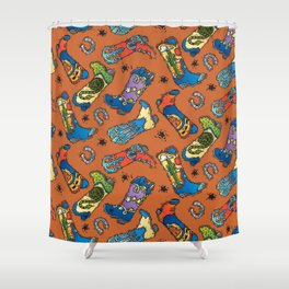 Cowboy-Cowgirl Boots Shower Curtain