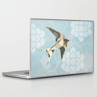 swallow Laptop & iPad Skins featuring Swallow by Lorri Leigh Art