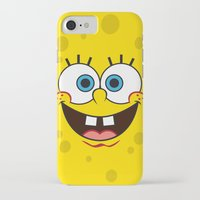 spongebob iPhone & iPod Cases featuring SpongeBob Face by julien tremeau