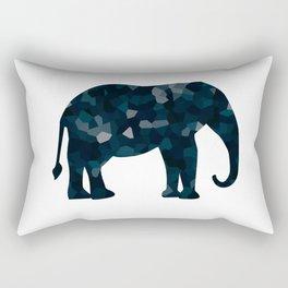 Navy Blue Polygon Elepephant Rectangular Pillow